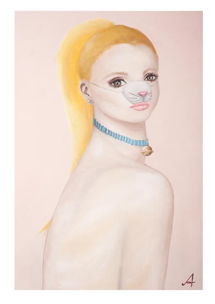 kitten puppet show print